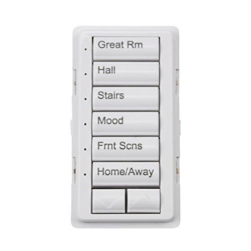 - Lutron QSWS2B-6BRLI-WH-NST White Grafik Eye QS 6 Button Engraved Wall Station Button Kit