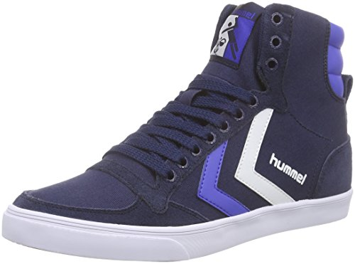 Hummel Slimmer Stadil Duo LO - Zapatillas Unisex Adulto, Azul - Blau (Total Eclipse 7364), 36 EU