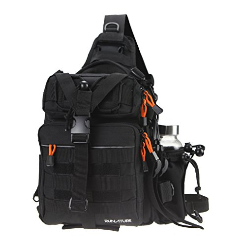 RUNATURE Fishing Bags Small Fish Tackle Bag Backpack Waterproof 11.6L Fly Fishing Sling Pack Tactical Single Shoulder Hunting Backpacks