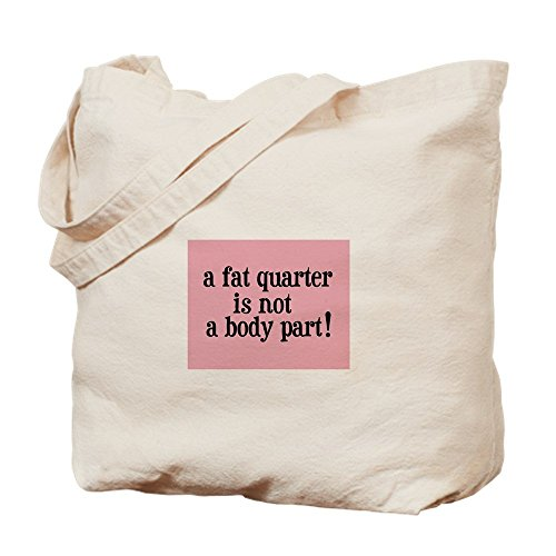 IrmaPetty Fat Quarter - Not A Body Part - Quilting - Natural Canvas Tote Bag, Cloth Shopping Bag