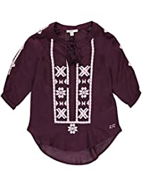 "Silver Jeans Co. Big Girls' ""Tribal Stitched"" Peasant Top"