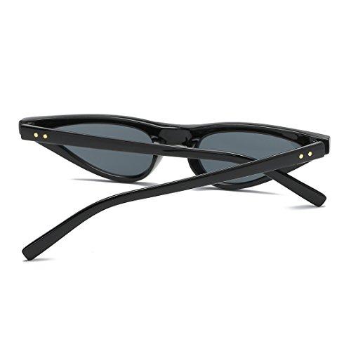 Plástico Bisagras K0578 kimorn De De Metal Mujer Gato Sol Pequeña Marco Gafas Para De De Negro Ojos wpwqF
