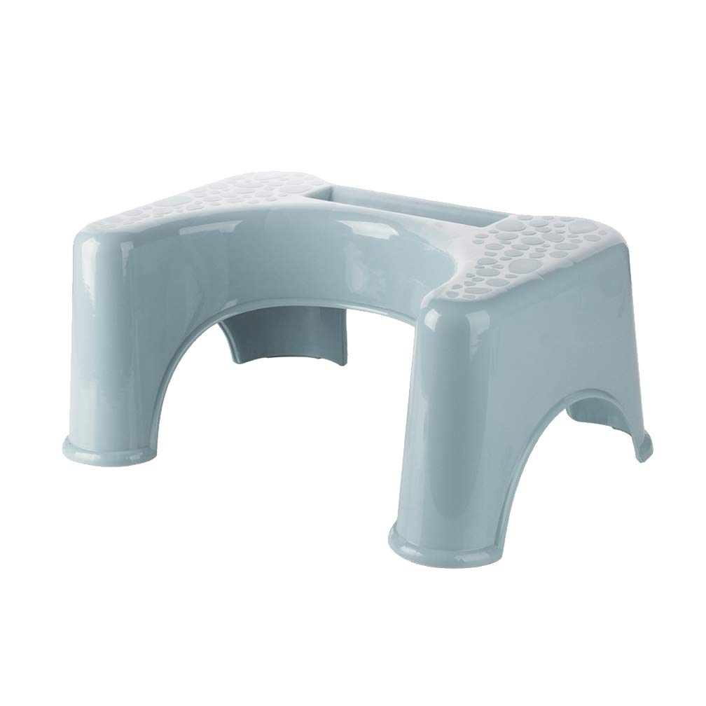 Gf Plastic Toilet Stool Adult Child Pregnant Woman Bathroom Squatting Toilet Foot Pad Footstool (Color : Blue)