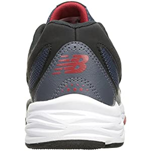 New Balance Men's MX824v1 Training Shoe, Grey/Red, 9.5 4E US