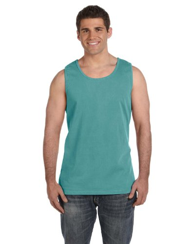 Comfort Colors Adult Garment-Dyed Sleeveless Tank, Seafoam, Large ()