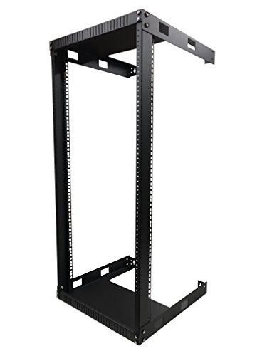 Wall Mount Audio Rack - Kenuco 20U Wall Mount Open Frame Steel Network Equipment Rack 17.75 Inch Deep