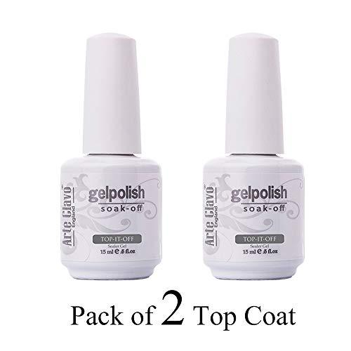 - Arte Clavo 15ml UV Led Gel Varnish Primer Long Lasting Shine Finish (2Pcs Top Coat) Nail Gel Polish Set 15ml