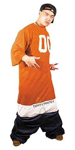 Tighty Whitey Costume (UHC Tighty Whitey Rapper Jumpsuit Funny Theme Party Outfit Fancy Costume, OS)