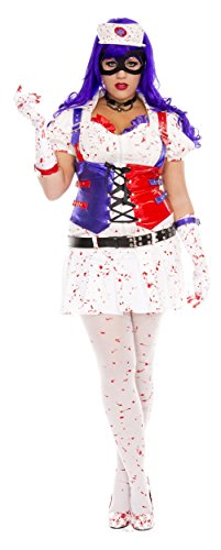 Hot Harley Quinn Costumes (Hot Mess Harley Adult Costume - Plus Size 1X/2X)