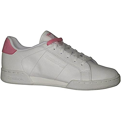 0ad37e53802 chic Reebok Women s NPC II NE Pop Fashion Sneakers White Icono Pink B(M) US