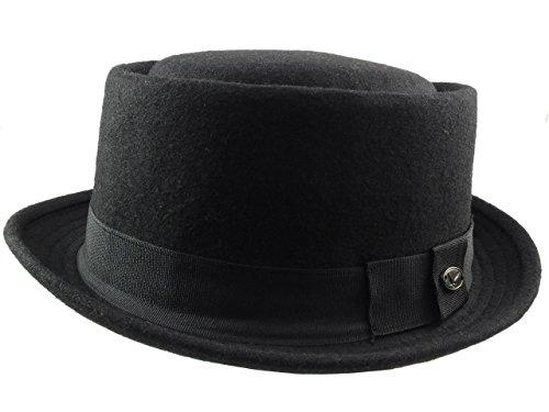 Revive Online Men's Wool 'Breaking Bad' Style Pork Pie Hat S/M (57Cm) - Pie Bad Breaking Pork Hat