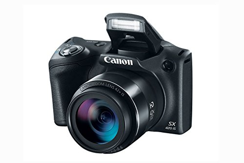 Canon PowerShot SX420 IS Digital Camera w/ 20MP, 42x Optical Zoom, 720p HD Video & Built-In Wi-Fi + 64GB Card + Reader + Grip + Spare Battery and Charger + Tripod + DigitalAndMore Accessory Bundle