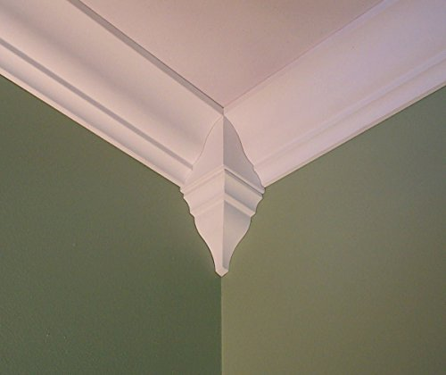 Crown Molding Corner Inside Block Fits 6 1/2 - 7 1/4 Inch Crown (Inside Corner Block)