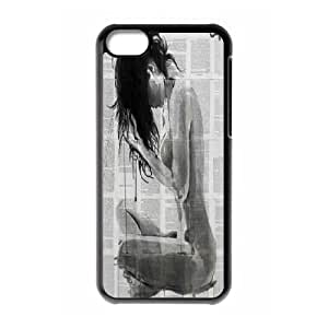 Unique draw Loui Jover Pen and Ink drawing Hard Plastic phone Case Cover For Iphone 5c ZDI119826