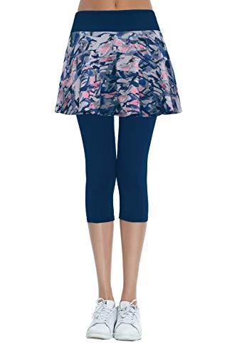 - Women's Built-in Shorts Skirts Swim Fitness Pleated Active Running Tennis Golf Skorts/Leggings