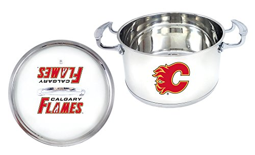 NHL Calgary Flames 5 Qt Stainless Steel Chili Pot