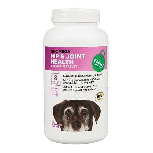Mega Hip and Joint Health For Senior Dogs - 120 Chewable Tablets ()