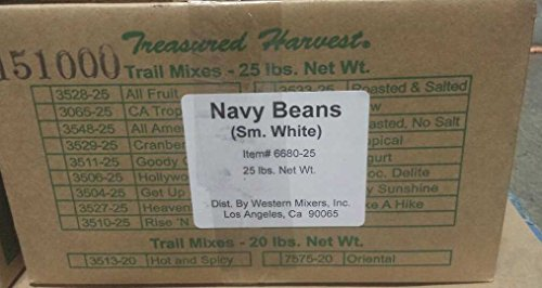 Dried Navy Small White Beans - 25 lb. by Treasured Harvest