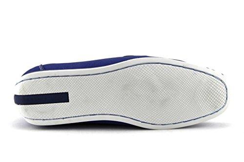 Mens D1513 Contraste Semelle Mocassin Slip Sur Mocassins Chaussures Habillées Occasionnels Marine