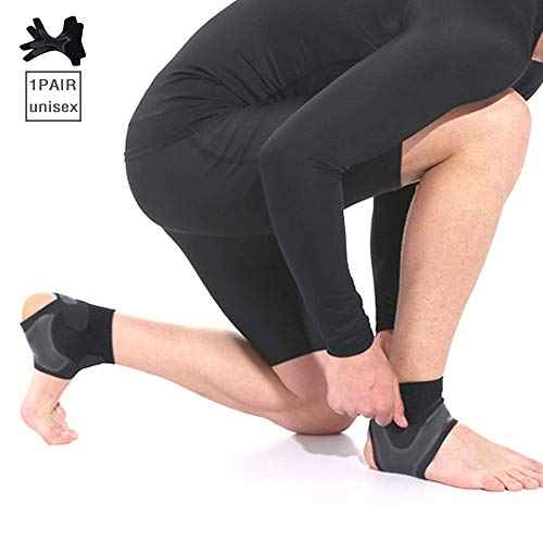 Ankle Brace Basketball Volleyball Running Pressurized Anti Ankle Sprains Ajustable Lightweight and Breathable Stable Ligament Prevent Re-Injury Reduce The Swelling for Men & Women 1 Pair (M)