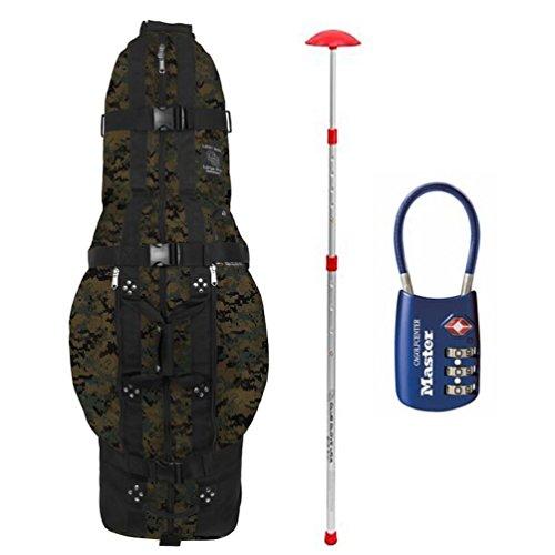 Club Glove Last Bag Pro Golf Travel Cover w/ Free Stiff Arm & TSA Lock ()
