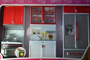 barbie sized dollhouse furniture modern comfort kitchen refrigerator sink stove amazoncom barbie size dollhouse