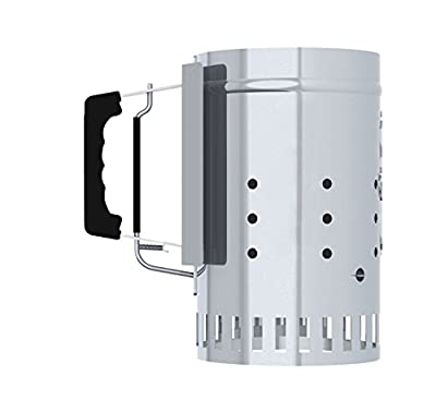 Char-Griller Charcoal Grill Chimney Starter with Quick Release Trigger, 12-Inch by Char-Griller