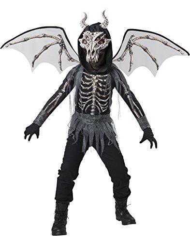 [InCharacter Dragon Skeleton Costume, Black/Gray, Large] (Skeleton Wings Costumes)