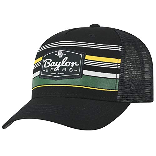 Mesh Cap Trucker Adjustable (Top of the World Baylor Bears Official NCAA Adjustable Route Mesh Trucker Hat Cap Curved Bill 391397)