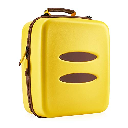 FUNLAB Carrying Case for Nintendo Switch Console & Accessories,Cute Travel Storage Bag Compatible with Pro Controller for Pokemon Pikachu Fans