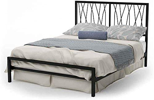 Amisco Ivy Metal Headboard Only, Queen Size 60 , Black Coral Textured Black