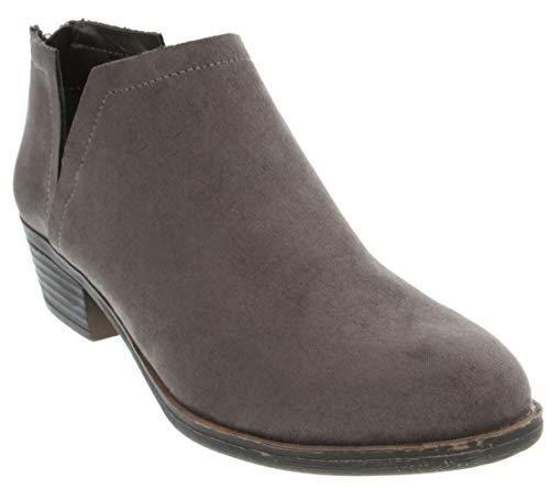 Sugar Women's Tessa Ankle Bootie 6 Grey Fx Suede