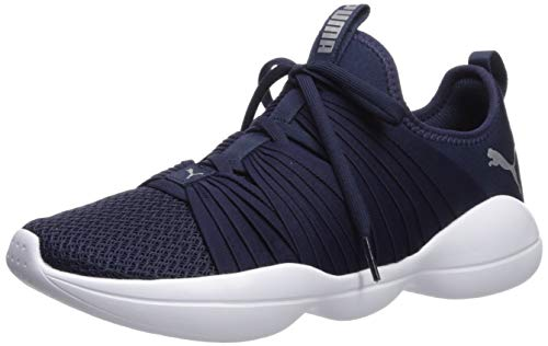 White Flourish - PUMA Women's Flourish Sneaker, Peacoat White, 6.5 M US