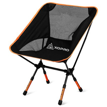 XOPRO Ultra Light Foldable Camping Chair, Blue, 2 Pack
