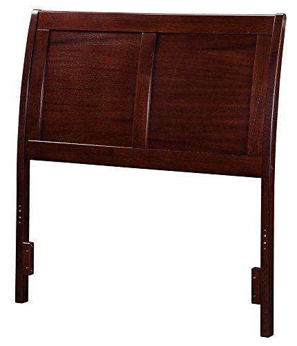 (Atlantic Furniture 41.5 in. Twin Headboard in Walnut Finish)