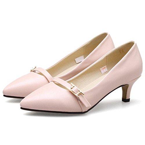 KemeKiss Pumps On Fashion Women Slip Pink T78USqR