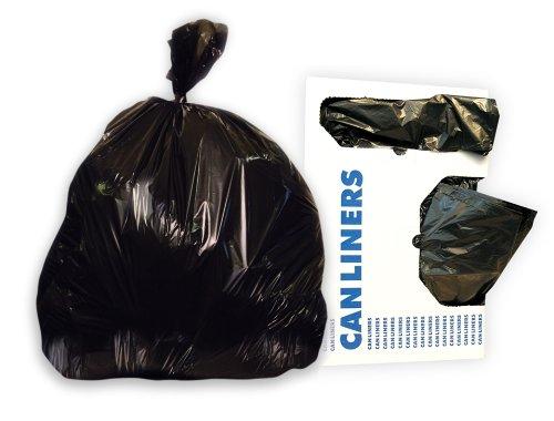 Jaguar Plastics G3858HBL Low-Density Commercial Can Liner, 60gal, 1.7mil, 38 x 58, Black (Case of 100 Bags)