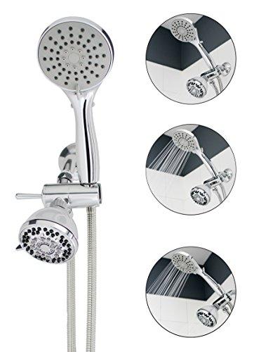 SmarterFresh Shower Sprayer Set - Multi Use Handshower for Adults, Newborn, Disabled, Elderly, Toddler Baby Bath Rinser, Hair Washing with Hand Held Shower Wand, Shower Diverter Valve & Hose Bath Sprayer
