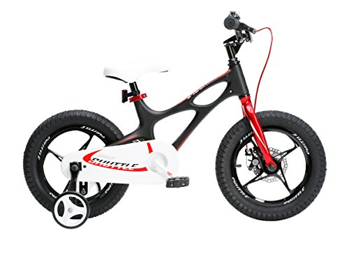 (Royalbaby Space Shuttle Lightweight Magnesium Kid's Bike with Disc Brakes for Boys and Girls, 18 inch with Kickstand, Black)