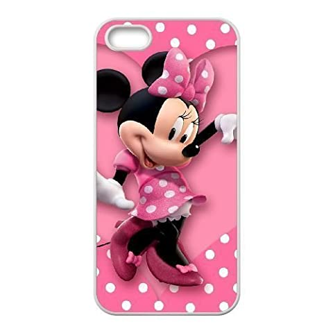 Durable Rubber Cases iPhone 5, 5S White Cell phone Case Nidla Minnie Mouse Protection Cover (Rubber Iphone 5s Cases Disney)