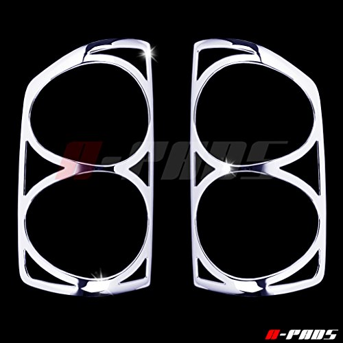 A-PADS Chrome Tail Light Covers for Dodge RAM [All Models] 2007 2008 - Rear Back Lights Taillight PAIR