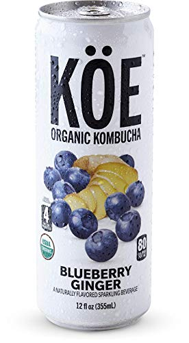 KÖE Organic Kombucha | Blueberry Ginger | 12oz. Cans (12 Pack)