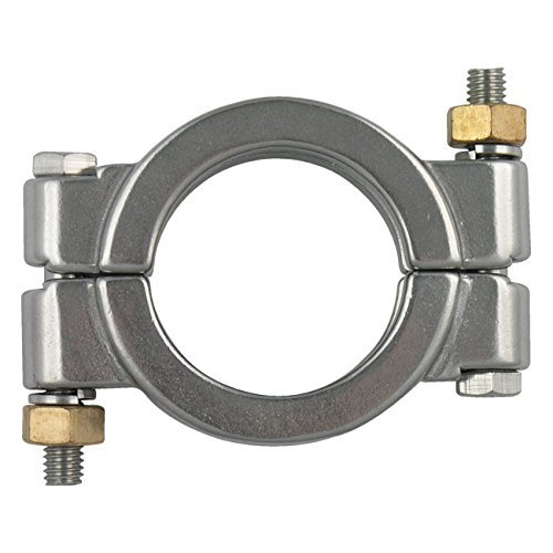 Dixon High Pressure Bolted Sanitary Clamp, 304 Stainless Steel - 4''