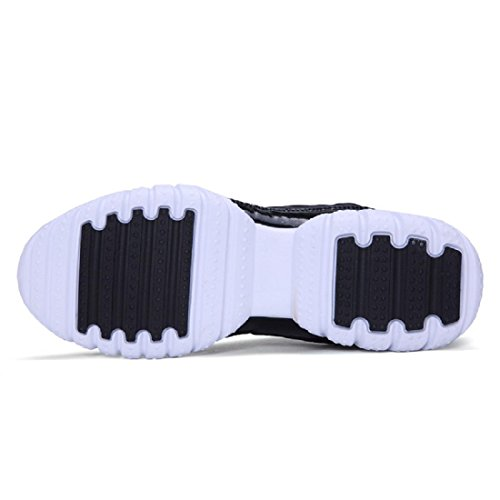 Hombres Respirable Zapatos deportivos Formación Excursionismo Zapatos de viaje Zapatos para correr Entrenadores Black