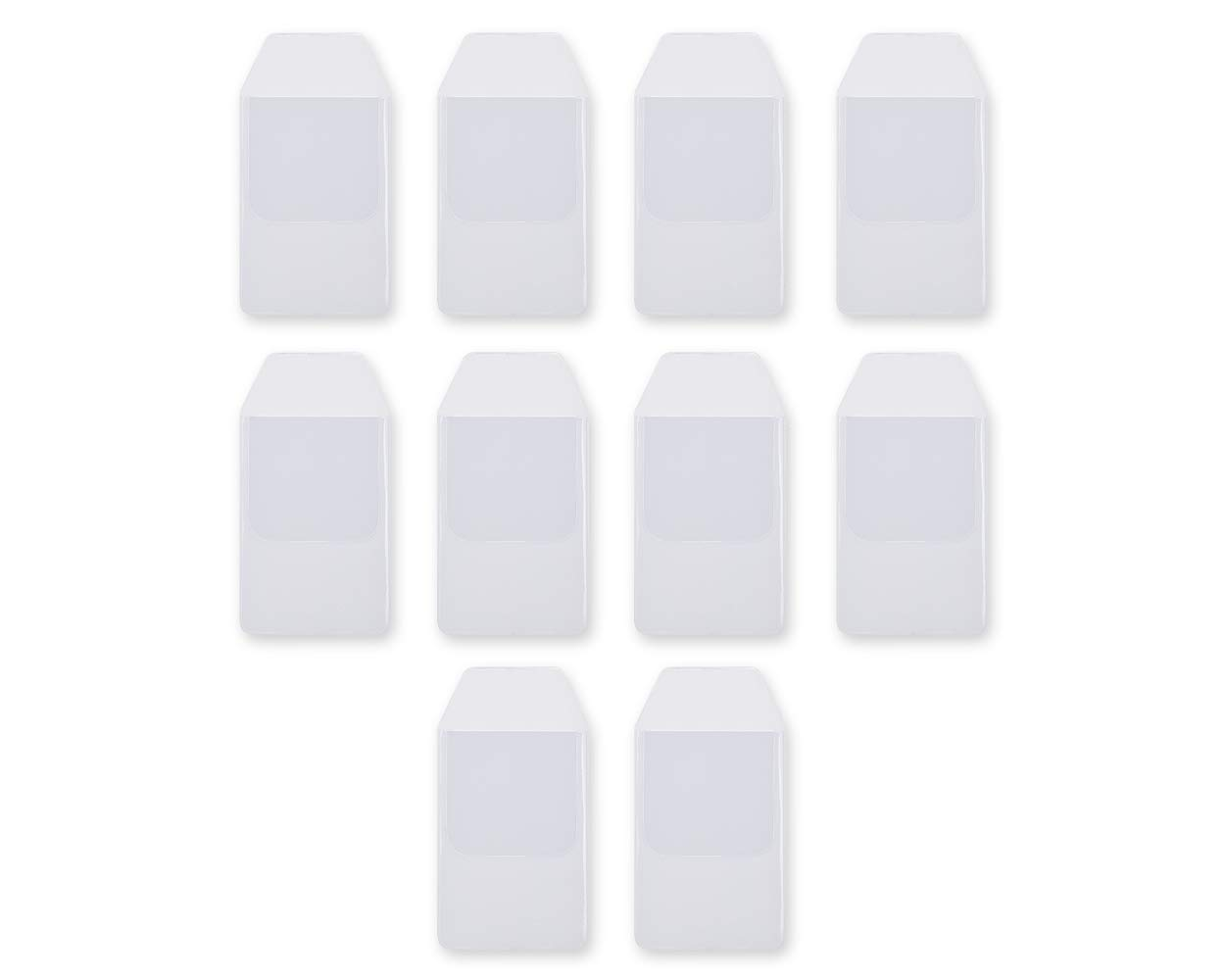 Ace Select Shirt Pocket Protector 10 Pieces Clear PVC Heavy Duty Pocket Protectors for School Hospital Office Supplies