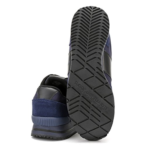 Calvin Klein Estez Suede/Nylon/Smooth, Zapatillas para Hombre Varios Colores (Indigo/black)