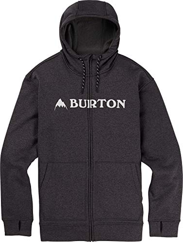 - Burton Men's Oak Full-Zip Hoodie, True Black Heather W19, X-Large