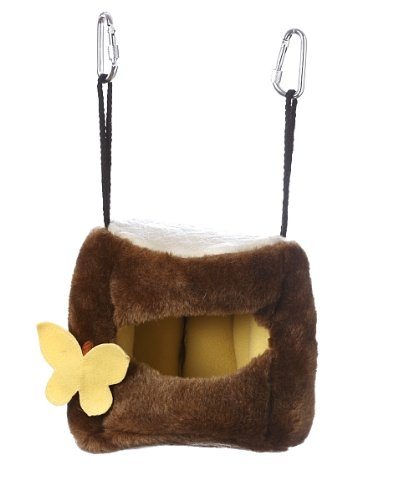 Multipet Plush Hanging Tree House for Birds 6-Inch, My Pet Supplies