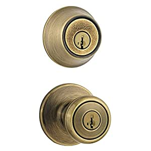 Combo Antique Brass Smartkey Entry And Single Cylinder Deadbolt