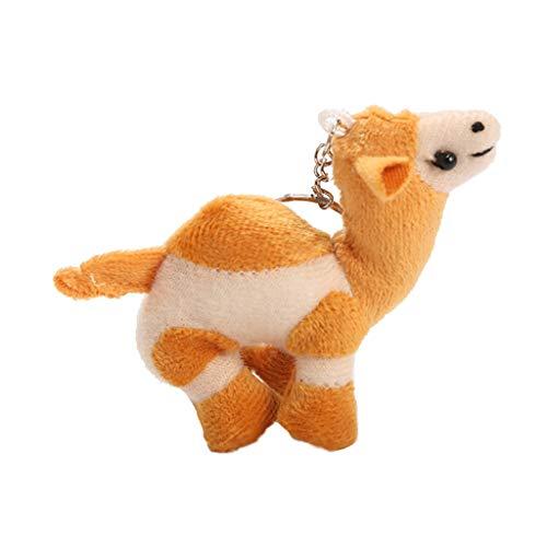 (Afazfa Cute Soft Camel Key Chain Funny Stuffed Kids Gift Toy Plush Toys for Girls (Yellow))
